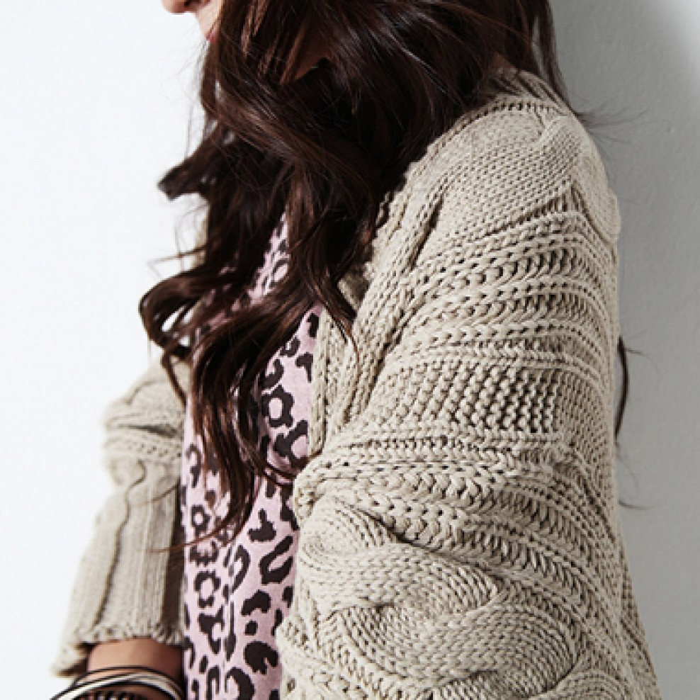 Pretzel knit cardigan