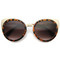 Women's large round indie laser cut cat eye sunglasses 9963