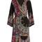 V-neck paisley-print cady dress