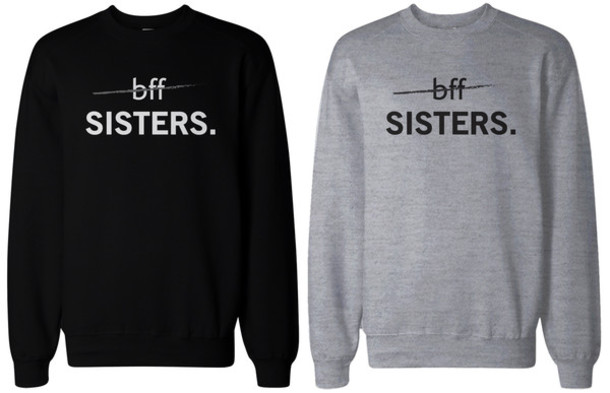 Sweater Black Sweatshirt Graphic Sweatshirt Bff Sweaters
