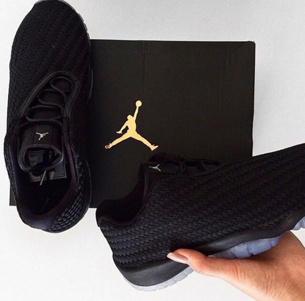 shoes, jordans, black jordans, low top