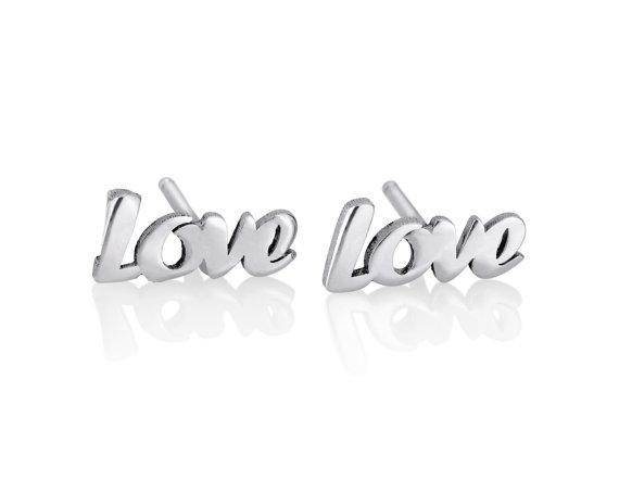 Love earrings  Personalized Earrings Name by KHandmadeCreations