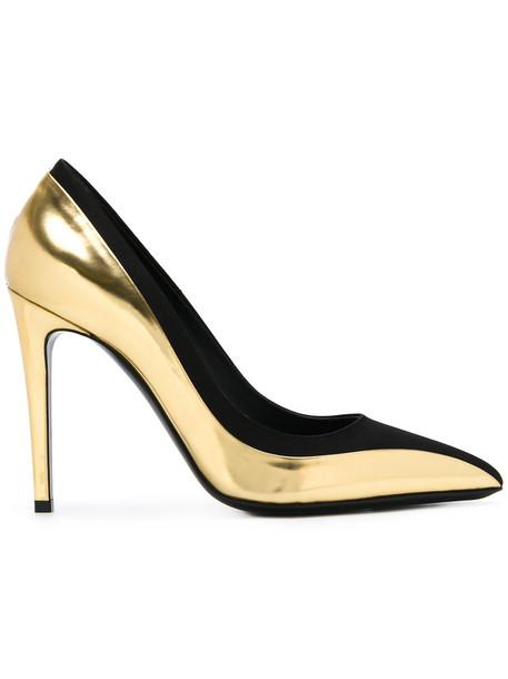 Salvatore Ferragamo pointed toe pumps women pumps leather black satin shoes