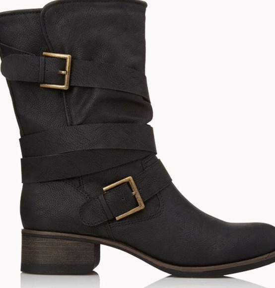 ankle boots buckle