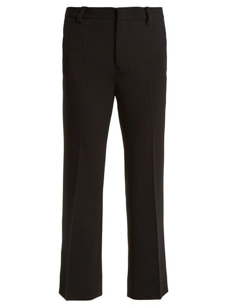 Miu Miu cropped high black pants