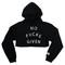 No fucks given crop hoodie black