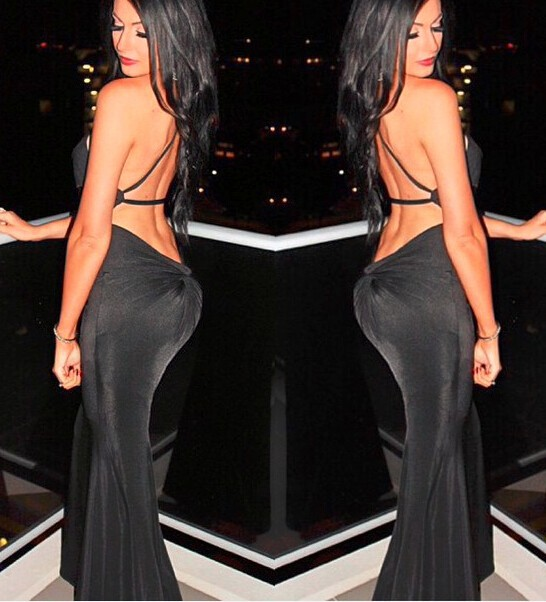 Sexy open back dress, knot back latest fashion evening gown dress · ebony lace fashion boutique · online store powered by storenvy