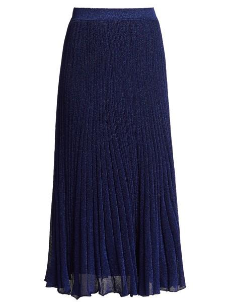 Missoni skirt midi skirt pleated midi knit blue