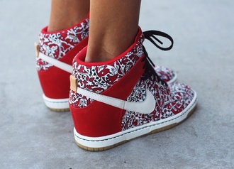 sneakers shoes high heels nike wedge