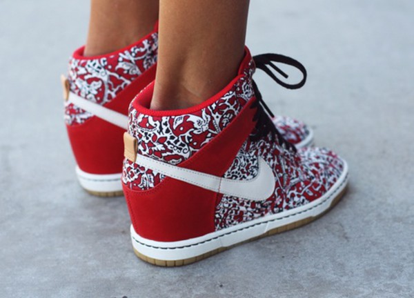 shoes heels sneakers nike bag wedges nike dunk sky hi floral red nike shoes custom shoes