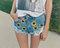 High waisted denim shorts 'sunflower girl'