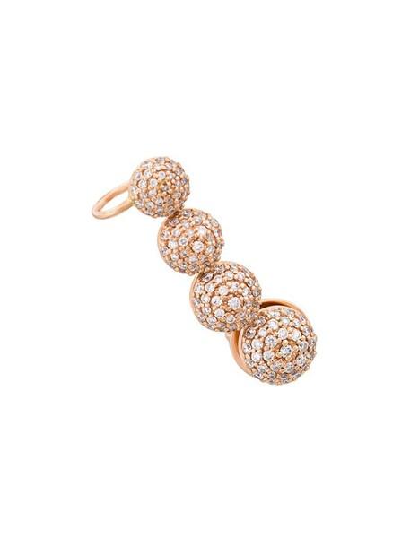 cuff rose gold rose women ear cuff gold grey metallic jewels