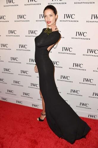 dress long prom dress adriana lima gown prom dress black maxi dress
