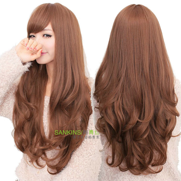 blouse long wig wavy wig women wigs curly hair curly hair