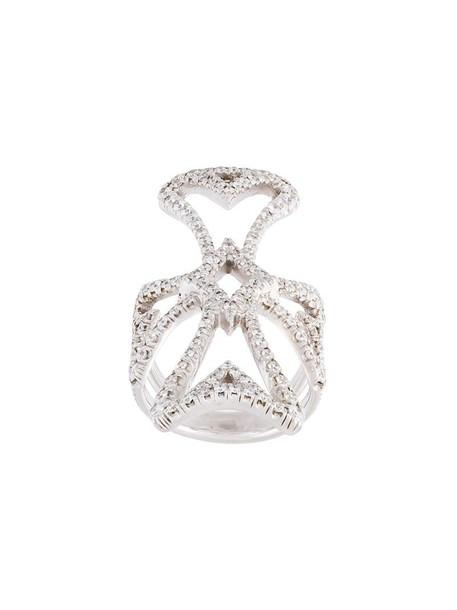 diamond ring cross metallic women ring jewels