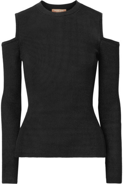 Michael Kors Collection sweater cold black knit