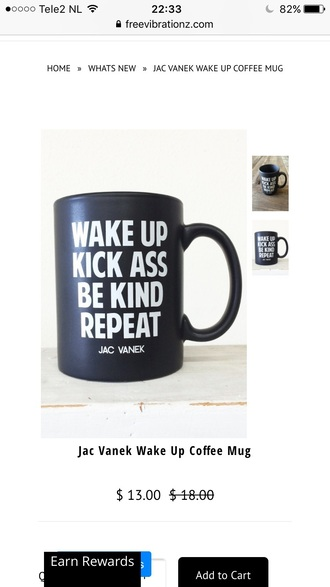 home accessory quote on it black and white mug cool black trendy gift ideas free vibrationz