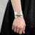 Silver Bow Bracelet, Bowtie Cuff Metallic, Vegan Leather, Scarf Cuff, Bot Tie Wide Womens Stocking Stuffer