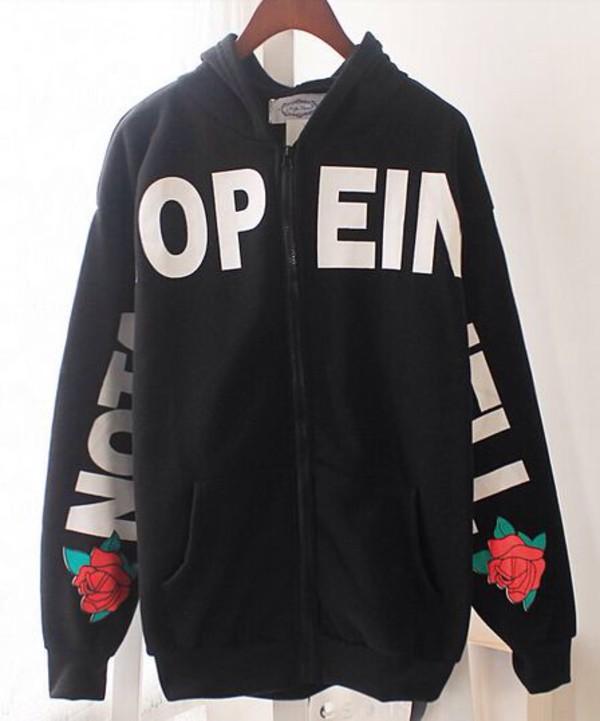 jacket hoodie harajaku sweatshirt flowers swag