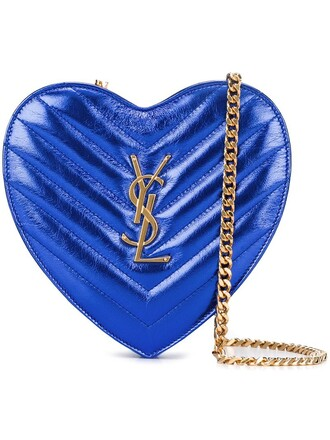 heart bag heart love bag blue