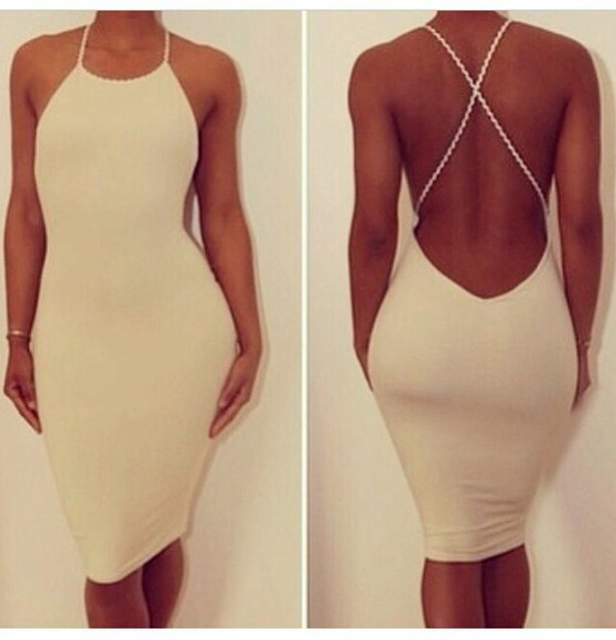 backless white dress elegant