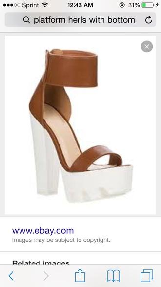 shoes platform shoes lugsole high heels
