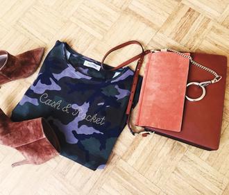 look de pernille blogger bag t-shirt camouflage