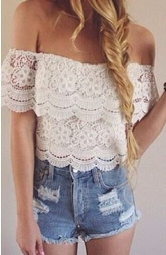 boho casual blouse olivia crop tops top