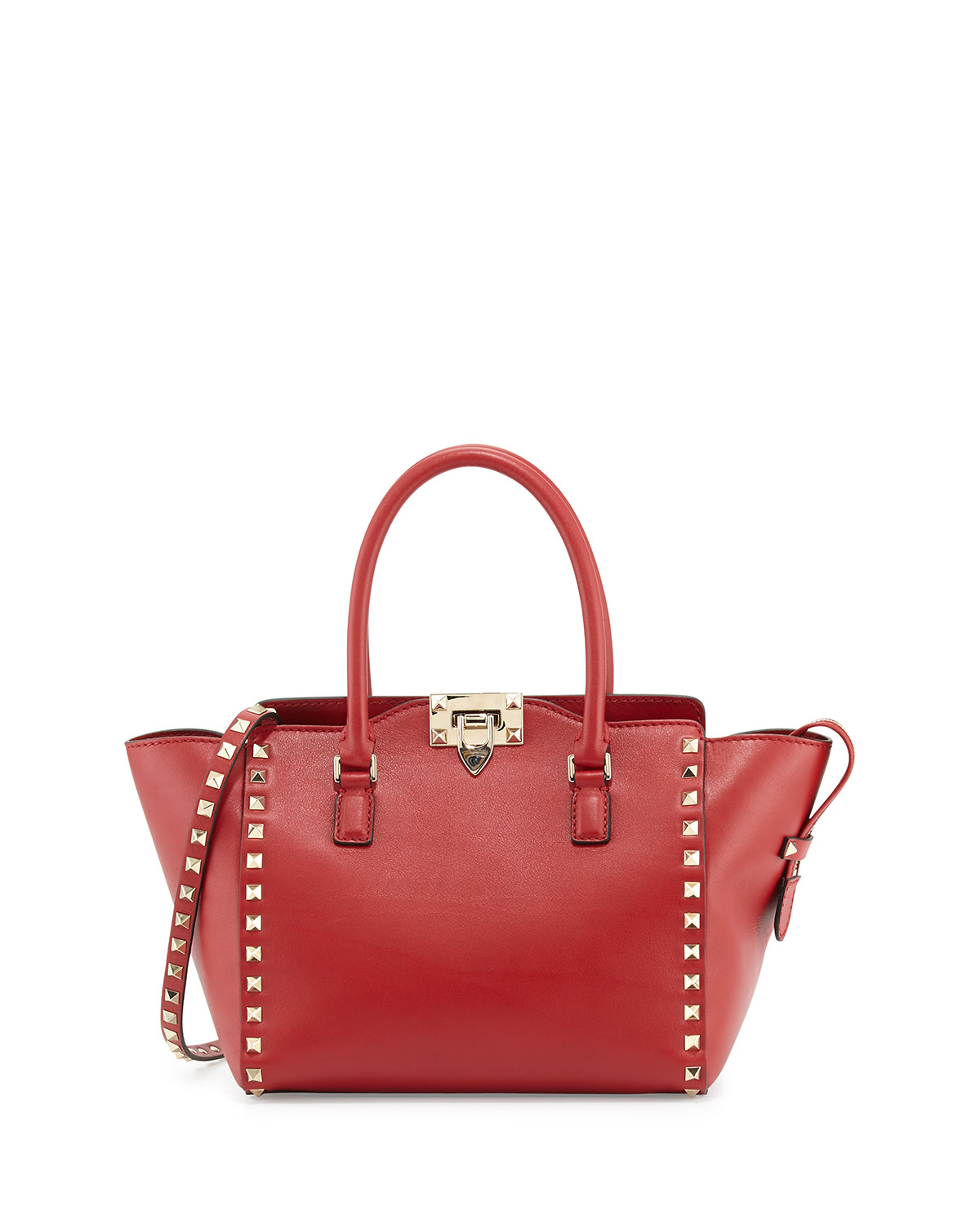 Handle tote bag, rosso (red)
