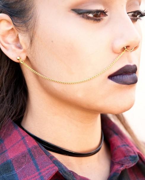 Jewels Septum Piercing Nose Ring Septume Piercing Nose Chain Nose Chain To Septum Gold Piercing Gold Septum Rings Fake Septum Piercing Earrings Wheretoget