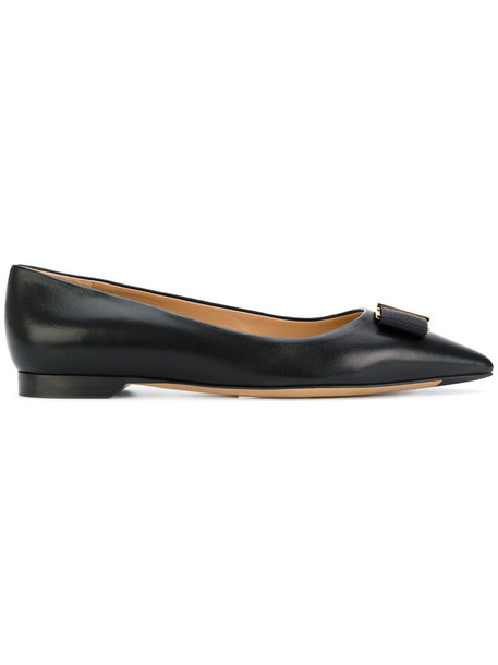bow women shoes leather black