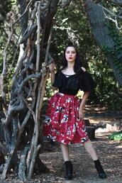 southerncaliforniabelle,blogger,top,skirt,shoes,make-up
