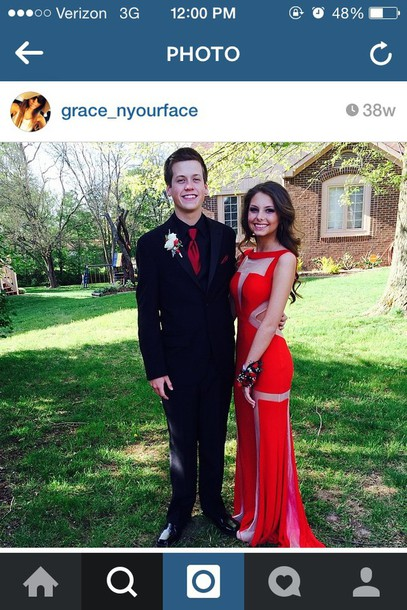 dress prom dress red dress scandalous