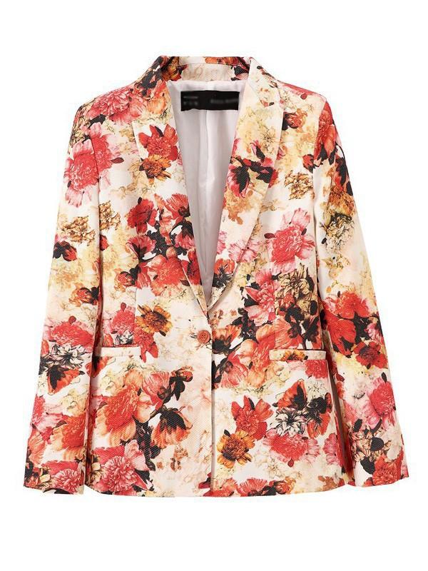 jacket suit\ spring outfits floral print suit suit jacket suits for women