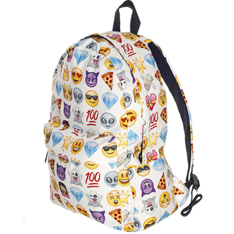 bag backpack back to school emoji print trendy white fashion style boogzel