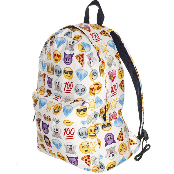 Coofit Cute Backpacks Cool School Bag Emoji Emoticon Smiley ...