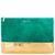 Bgo & me: Cartera de ante verde pavo y piel metalizada dorada