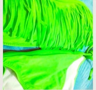 cute love neon swimwear green swimwear green spring summer outfits bright colours fashion selling