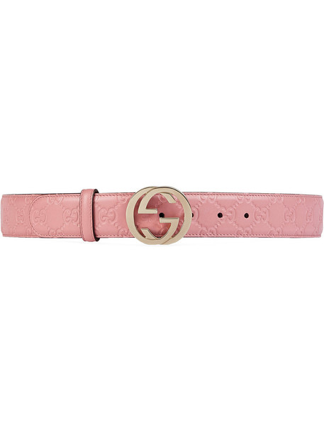 gucci metal women belt leather purple pink