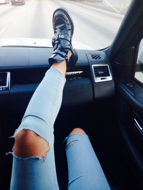 how to make ripped jeans with jeggings