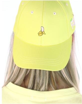 hat yellow cap