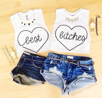 tank top best bitches best friends forever best friends cute bethany sassy lol badass amazing flawless