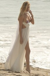 dress,white dress,maxi dress,gown,rosie huntington-whiteley,draped