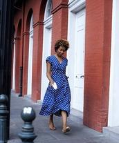 dress,midi dress,streetstyle,blue,fashionista