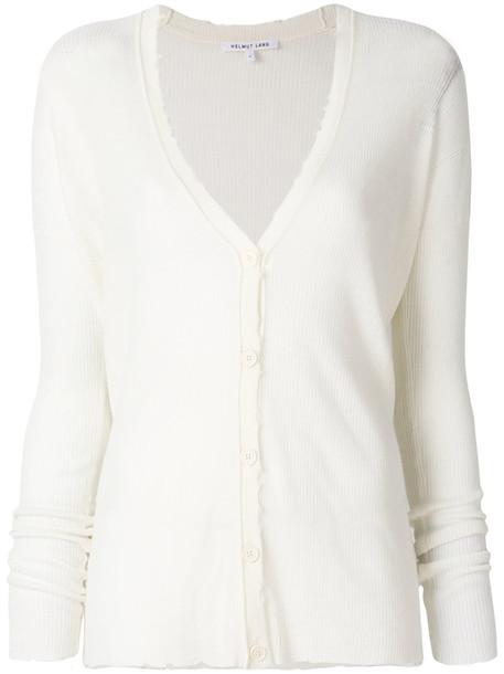 Helmut Lang cardigan ribbed cardigan cardigan women white wool sweater
