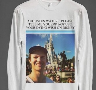 shirt augustus waters the fault in our stars