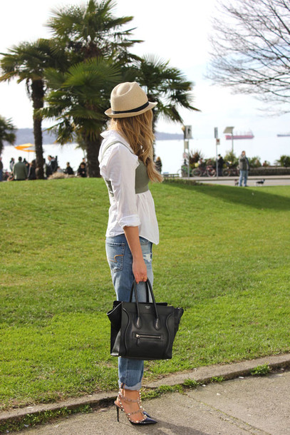 a fashion love affair jacket hat jeans shirt jewels bag shoes