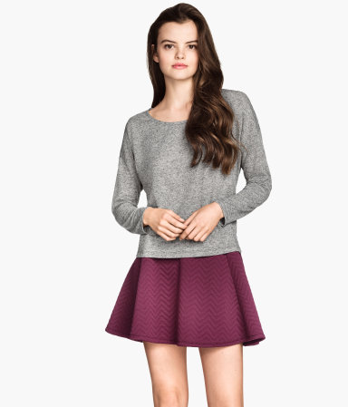 H&M Wide-cut Jersey Top $12.95