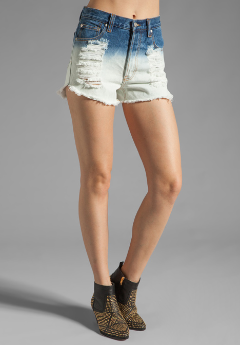 Minkpink alexa dip dye denim short in multi at revolve clothing