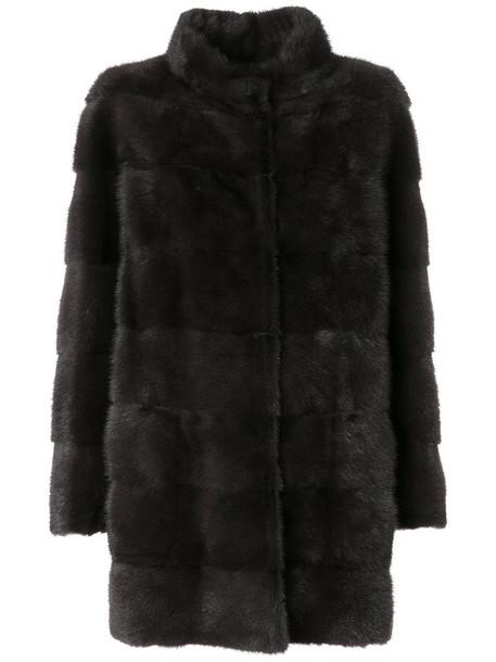 Arma coat fur women classic brown